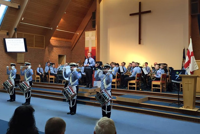 Image credit: The Spitfires - 14th Eastleigh Scout and Guide Band. St. George's Day concert 2016 at Chandler's Ford Methodist Church.