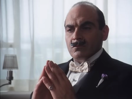 David Suchet as Poirot - image by Elena-lu via Flickr