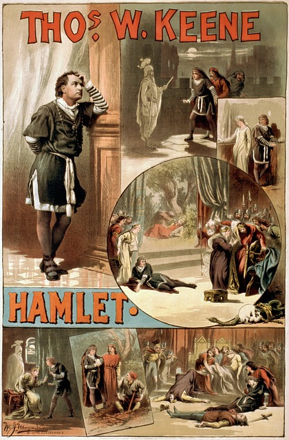 Hamlet poster - image via Pixabay