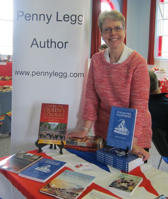 Penny Legg in Chandler's Ford promoting her books.