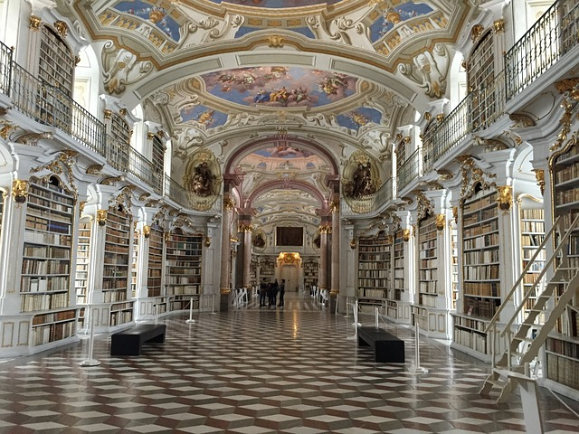 The world's most beautiful library perhaps - image via Pixabay