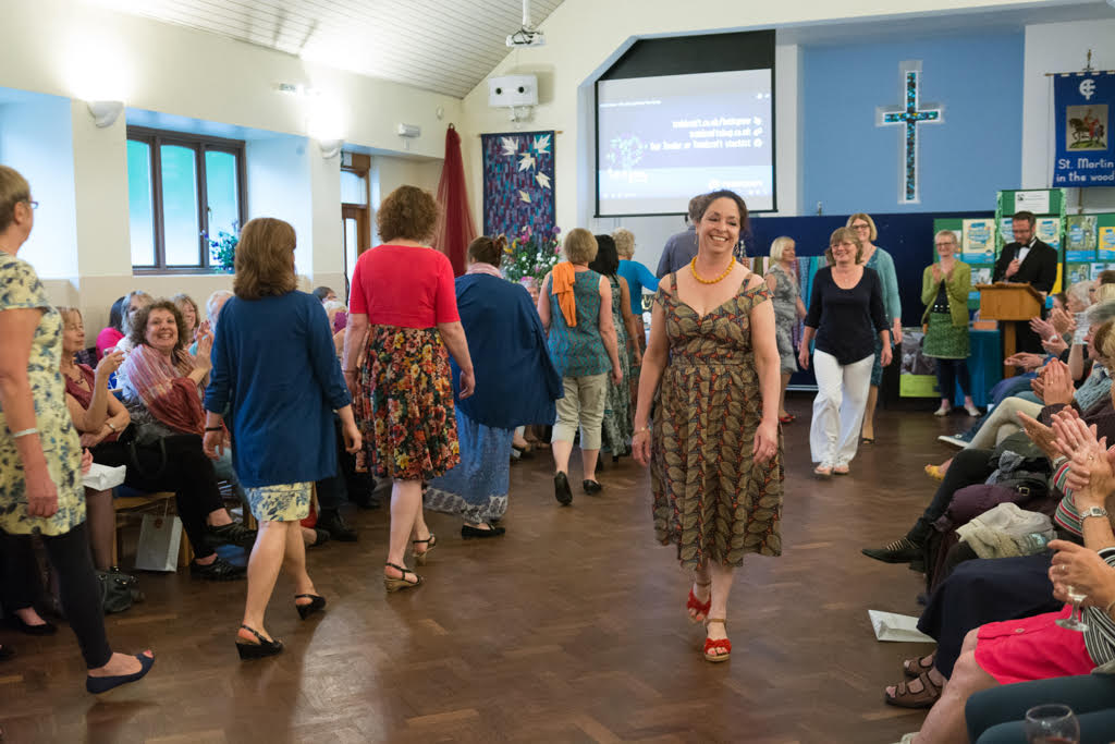 Fairtrade fashion show at St Martin in the Wood Church. Image credit: Nigel Barker.