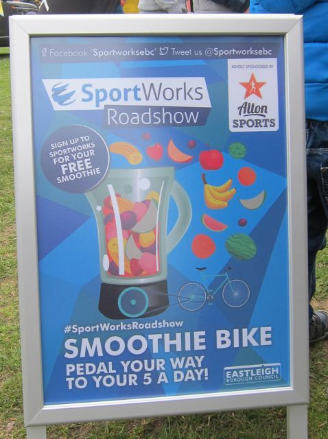 Smoothie Bike: pedal your way to your 5 a day.