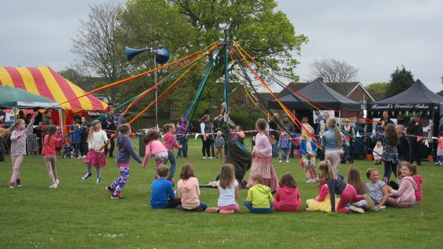 Maypole Dancing by Fryern School Chandler's Ford. Fryern Funtasia 2016.