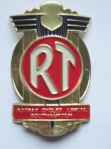 "Classic Rotrax Head Badge. Credit: <a href=""https://rotraxcycles.wordpress.com/2008/10/02/classic-rotrax-head-badge/"">Rotrax Cycles</a>."