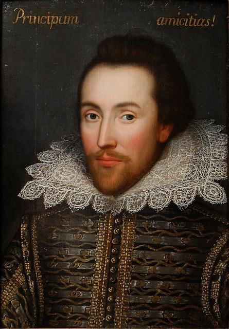 Shakespeare - image via Pixabay