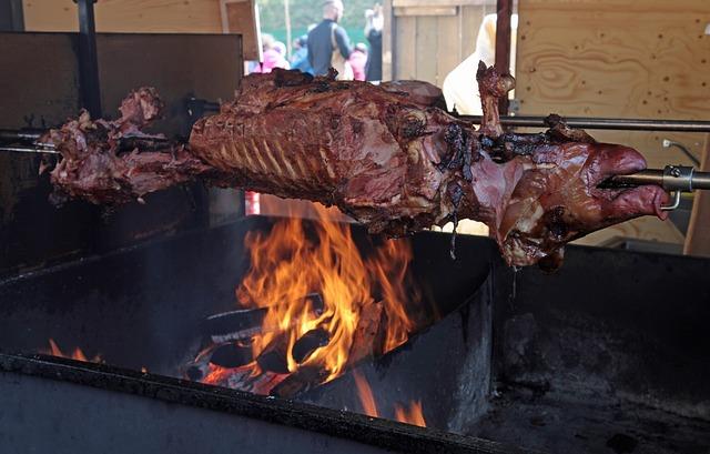 Spit Roast (suckling pig) - image via Pixabay