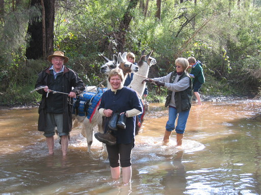 A river crossing on a 10 km walk (Photo by Jo Borton)