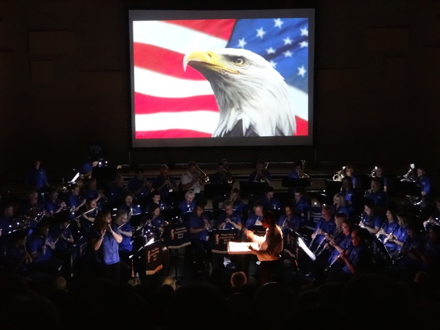 Performing Stars and Stripes forever. Thornden Community Wind Band image by Richard Doyle 2016.