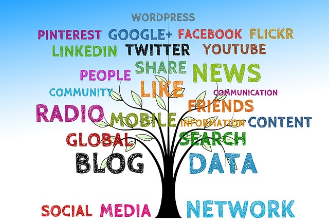Social Media is a vital tool for all authors to share their work - image via Pixabay