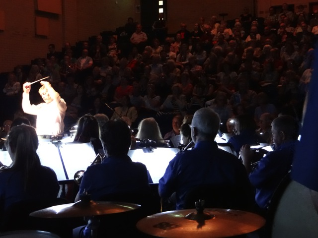 The view from the Engine Room of the audience joining the last numbers. Thornden Community Wind Band image by Richard Doyle 2016.