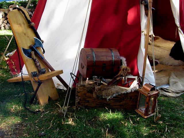 Medieval camp life - image via Pixabay
