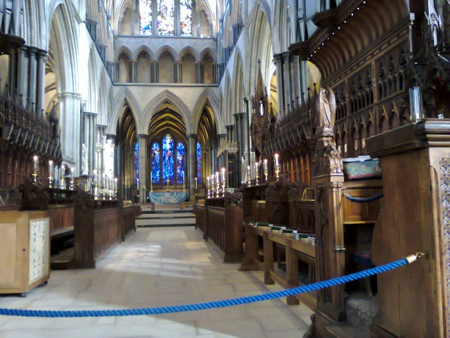 The choir stalls are lovely