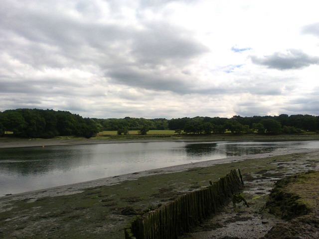 The River Hamble with exposed mudbanks