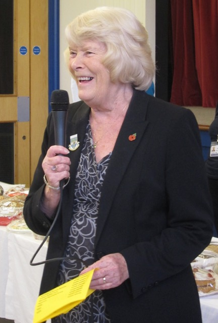 "Eastleigh former mayor Jane Welsh opened the 2016 Chandler's Ford 43rd Joint Charities Christmas Market : ""spend, spend, spend""."