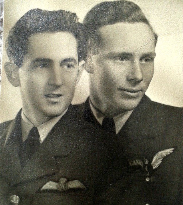 Frank Damerell (right) with his pilot, Jacques Forget during World War Two.