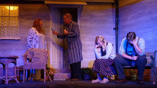 Larry's final letter to Annie is revealed. All My Sons - performed by Chameleon Theatre Company, Chandler's Ford.