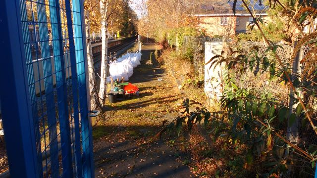 Volunteers cleared the disused platform at Chandler's Ford.