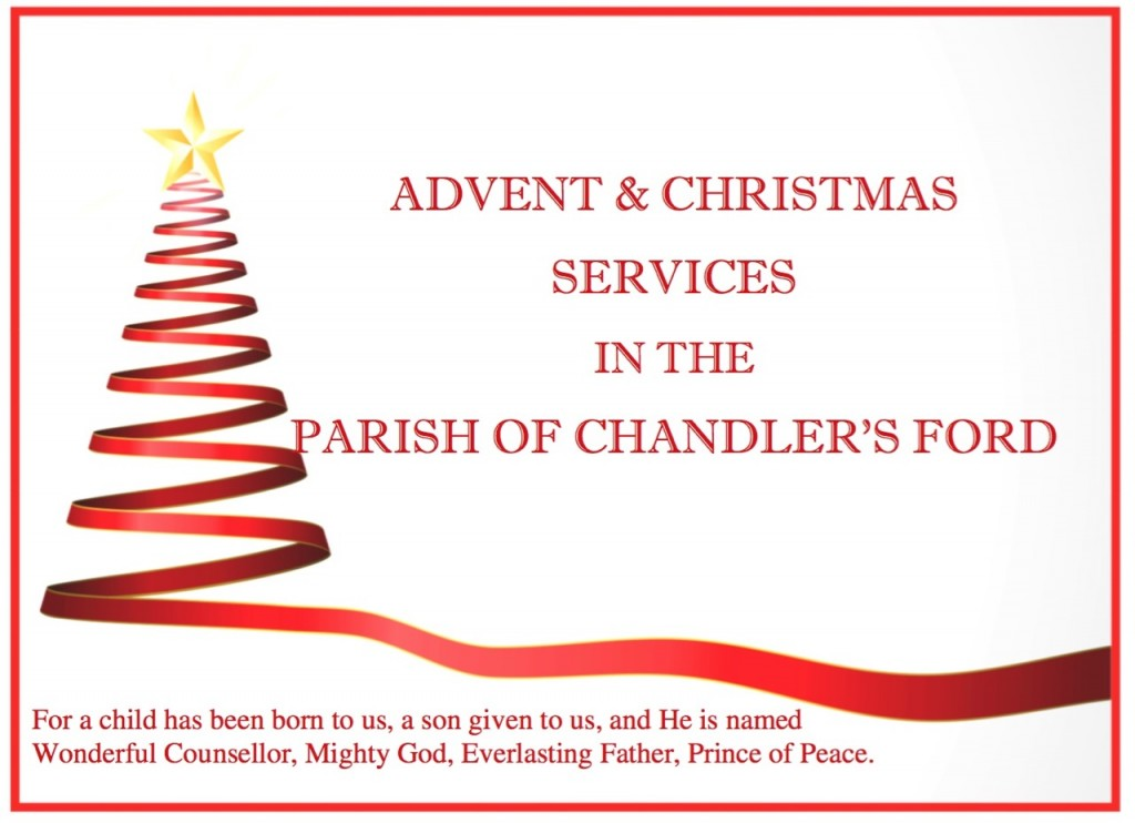 Advent and Christmas services 2016 in the Parish of Chandler's Ford.