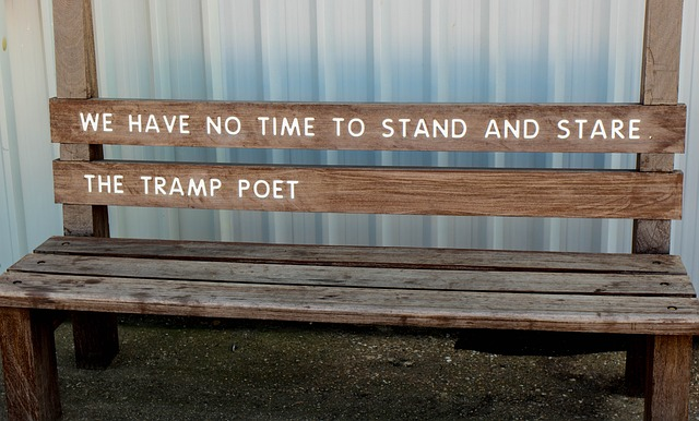 Poets stand, stare and then write down - Image via Pixabay