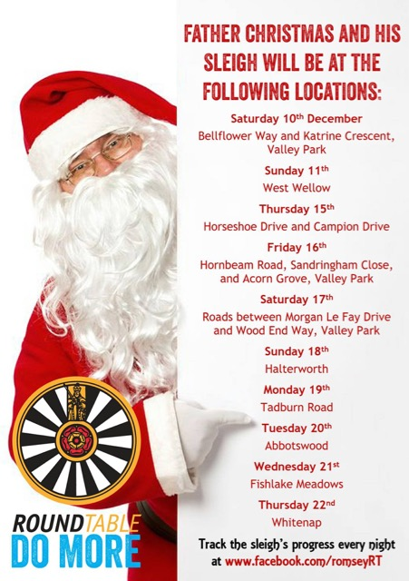 Romsey, Chandler's Ford and District Round Table - visiting local areas at Christmas 2016.
