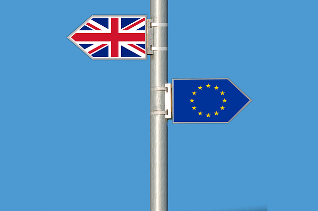 UK and EU flags - Elionas2 image via Pixabay.