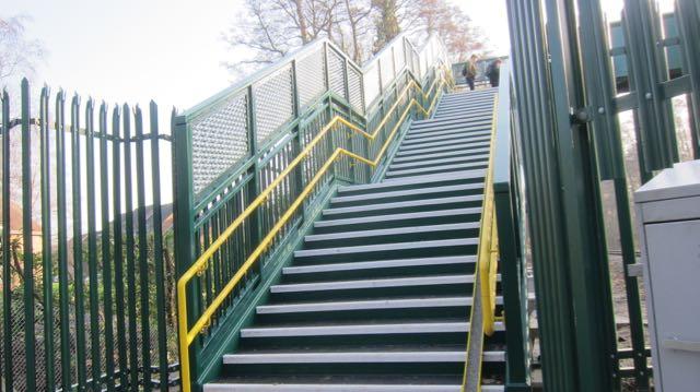 Chandler's Ford to Valley Park new footbridge Jan 2017