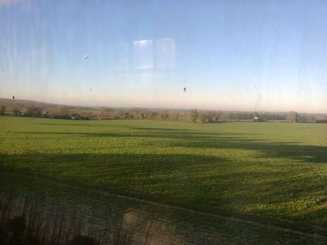 Lovely Hampshire country only seen from the train