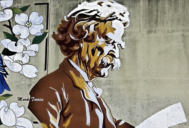 Mark Twain - Classic Writers Live on long beyond their lifespans - image via Pixabay