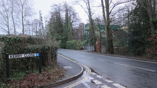 New footbridge at the level crossing by Sutherlands Way in Chandler's Ford.