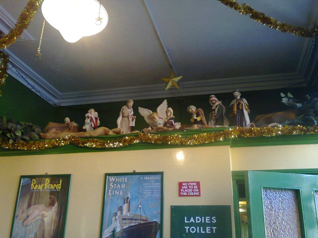 The Nativity scene, part of the Ladies Waiting Room at Alresford