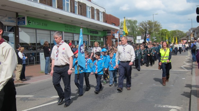 Chandler's Ford Scout District St. George's Day Parade 2017