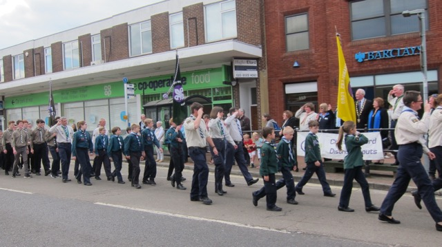 After church service - Chandler's Ford Scout District St. George's Day Parade 2017