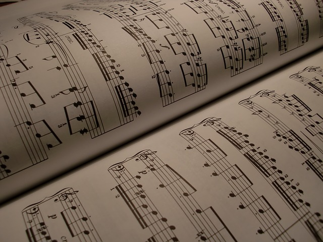 Classical music sheets - image via Pixabay