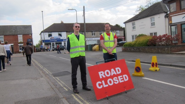 Chandler's Ford Scout District St. George's Day Parade 2017 - Road closed