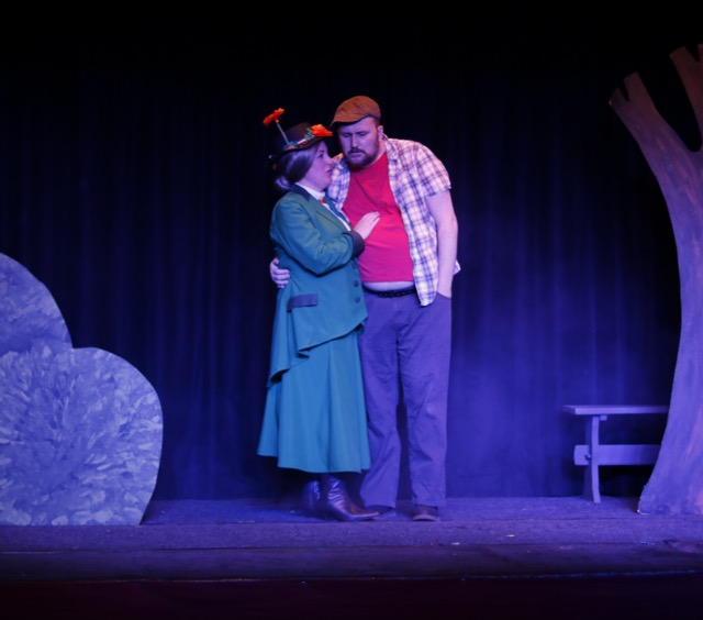 Nanny Marksworth (Cari Laythorpe) and Gregor / Ghost (Kevin Bowers). Chandler's Ford Chameleon Theatre Company April 2017