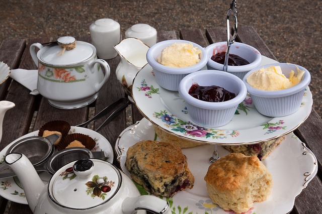 This was one of the most popular images. Everyone loves a cream tea and proper china to serve it in! (Great thing with virtual parties - you don't wreck the diet!) Image via Pixabay.