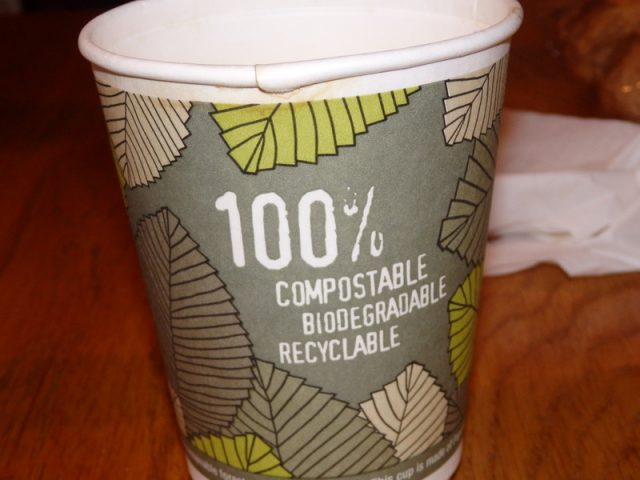 Recyclable Coffee Cup from Blackbird Cafe