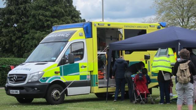 St. John Ambulance - children practising emergency skills.