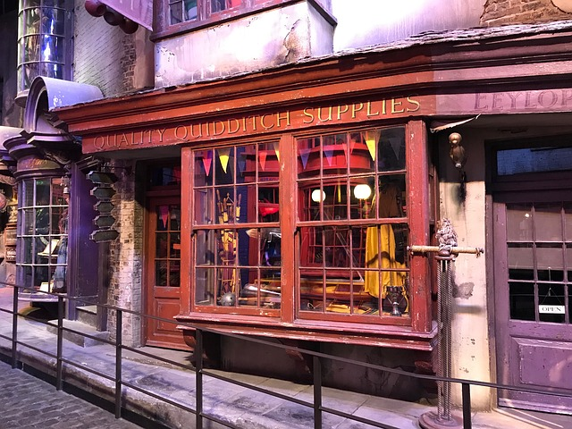 One of the shops in Harry Potter's Diagon Alley - image via Pixabay