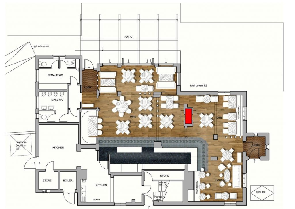 The layout of the Hiltonbury Farmhouse. Click to enlarge the image.