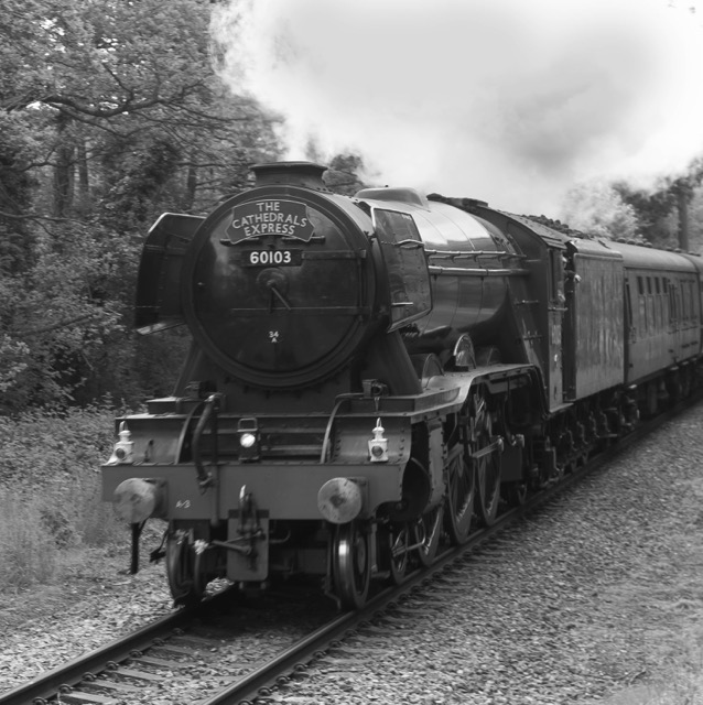 The Flying Scotsman in Chandler's Ford by Carl Maskelyne 31 May 2017