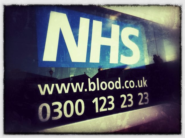 NHS Give Blood vehicle - photo by James Weast via Flickr