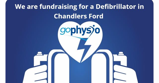goPhysio: fundraising for a defibrillator in Chandler's Ford