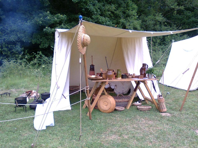 The cook's tent - they'd made their own butter