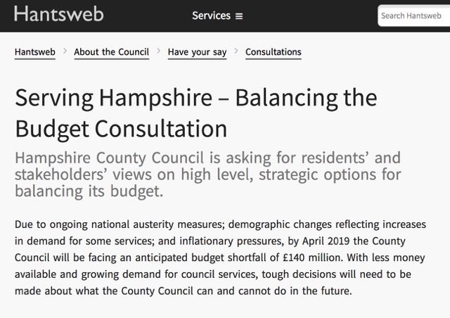 Serving Hampshire – Balancing the Budget Consultation