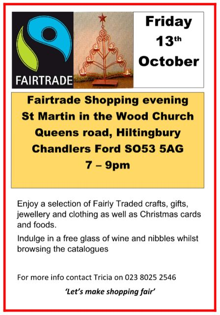Friday 13 Oct 2017 Fairtrade Chandler's Ford