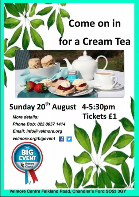 Cream Tea at Velmore Church