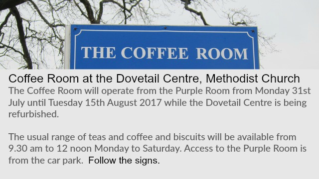 The Coffee Room July - August 2017 update