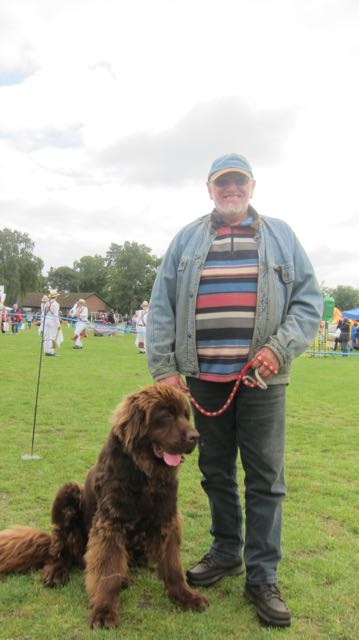 David Lamb with Monty at Hiltingbury Extravaganza 17 Sep 2017